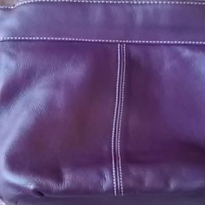 Croft & Barrow purple leather purse